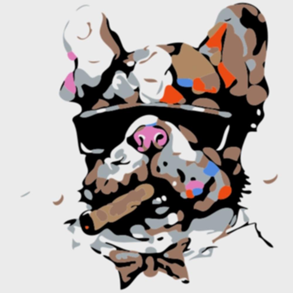 Картина по номерам «сделай сам» для детей рисование с животными
