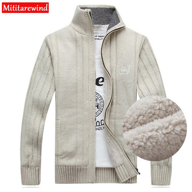 Clearance Winter Sweater Men Cardigan Male Fleece Standard Wool Sweater Men Pull Homme Cardigan Men Fashion Outwear Coats