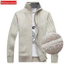 Clearance Winter Sweater Men Cardigan Male Fleece Standard W
