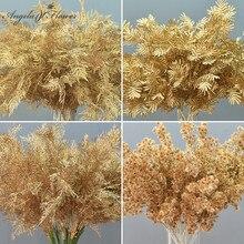 DIY Свадебный декор Золотая серия искусственный цветок, лист, пластиковые Шелковые Растения, различные стили, вечерние материалы для дома