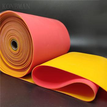 1 2mm proca wysokiej jakości płaska gumowa opaska podwójny kolorowy z jednej strony mocna elastyczna guma lateksowa opaska na polowanie na zewnątrz katapulta tanie i dobre opinie KONBMAN CN (pochodzenie) kieszonkowe narzędzia uniwersalne 0 8mm Latex Rubber Band suitable for four seasons High elasticity long range Good flexibility and long use time