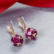 Best lady gem Ball Fashion Drop Earring Boho Elegant Dangle Earrings Wild Ladies Fashion Statement Earrings Christmas Gifts #ZD(China)
