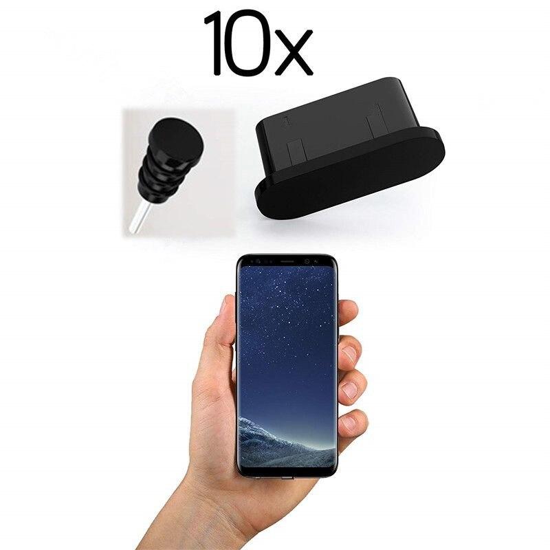 Универсальные 10 штук противопылевые заглушки USB C отверстия для зарядки силиконовый Тип C порт защита от пыли заглушка для Samsung S9 S8 Huawei Xiaomi