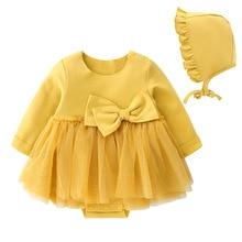 New Born Baby Girl Clothes Long Sleeve Bow Baby Girl