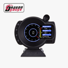「DRAGON」 3.5 Inch OBDⅡ Multifunctional LCD Racing Gauge RPM 10000 Max With Alarm Function for 12V Vehicles With OBDII Version