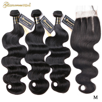 Brazilian Body Wave Bundles With Closure 100% Remy Human Hair Bundles Weave Extensions 4pcs/package Natural Color Middle Ratio aircabin hair body wave bundles with closure remy human hair extensions brazilian body weave bundles and lace closure