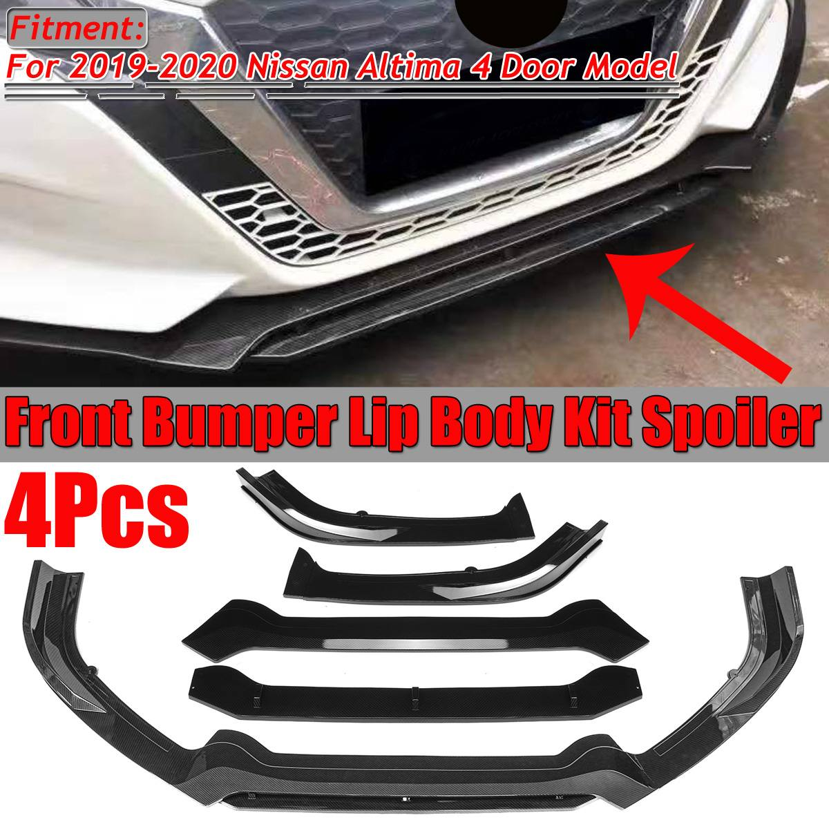 One Pair Carbon Fiber Color Vehicles Bumper Skirt Splitter Diffuser Spoiler Lips