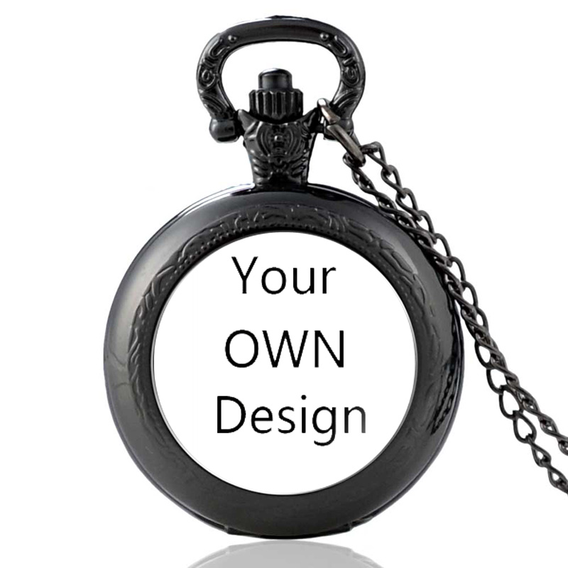 5Pcs Your OWN Design Brand Logo/Picture Custom Men And Women Quartz Pocket Watch