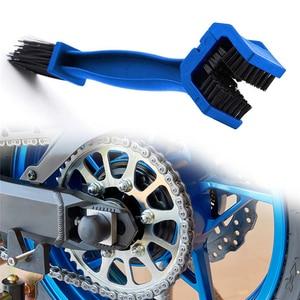 Motorcycle Cover Chain Brush Cleaner for KAWASAKI Z750 S1000XR KTM 250 EXC HUSQVARNA MOTOCROSS HONDA NC750X CBR600RR()