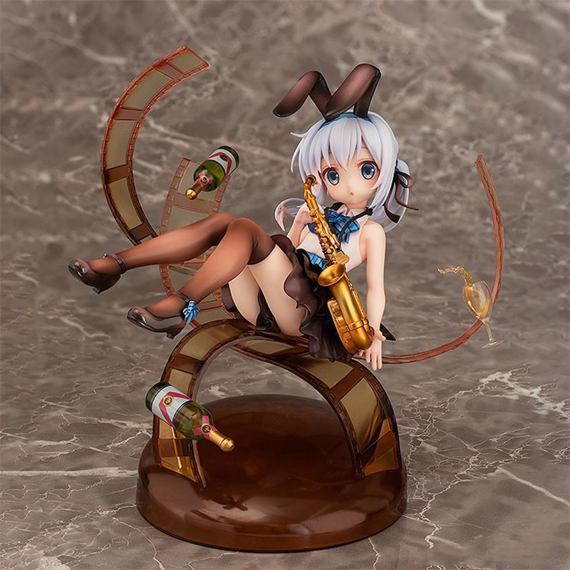 Anime Is The Order A Rabbit Chino Jazz Style PVC Action Figure Anime Figure Model Toys Sexy Girl Collectible Doll Gift 16cm