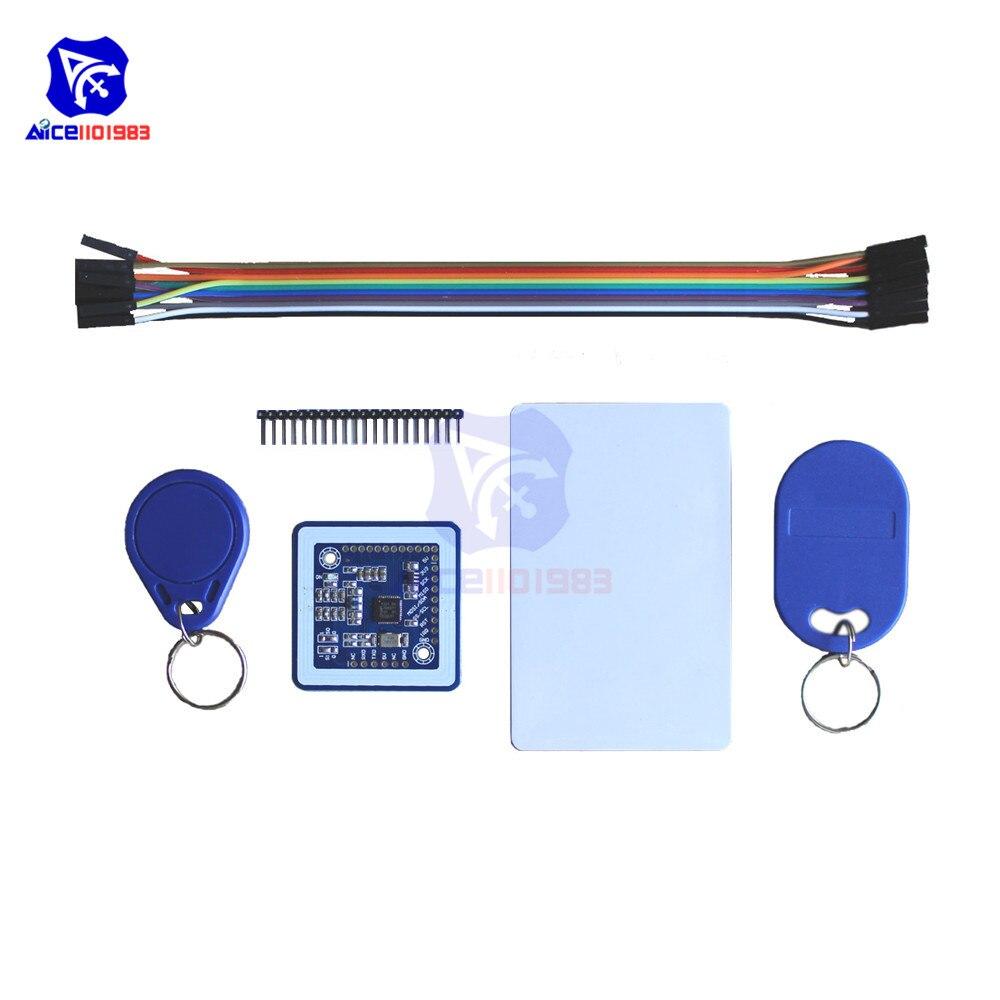 Diymore Mini PN532 NFC RFID kablosuz modülü V3 kullanıcı kitleri okuyucu yazar modu IC 13.56MHz SPI IIC I2C S50 anahtar kart PCB Arduino için