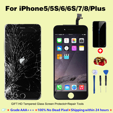 Lcd-Display Screen-Replacement No-Dead-Pixel iPhone 4s for 5s/6-3dtouch with 7-Plus
