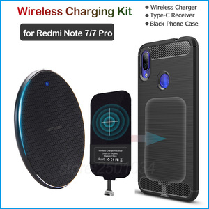 Image 1 - Install USB Type C Receiver Realize Wireless Charging for Xiaomi Redmi Note 7/Note 7 Pro Qi Wireless Charger + Adapter Gift Case