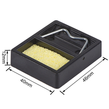 WMORE soldering iron Stand Holder with Cleaning Sponge plasticPads Generic High Temperature Resistance welding solder iron stand цены онлайн