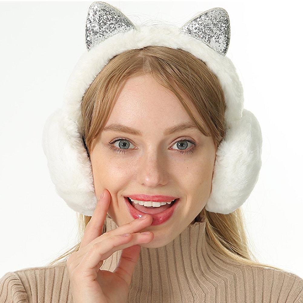 Women Ladies Ear Muffs Cute Solid Color Windproof Ears Warm Adjustable Soft Plush Earmuffs Earlap Orejeras De Invierno