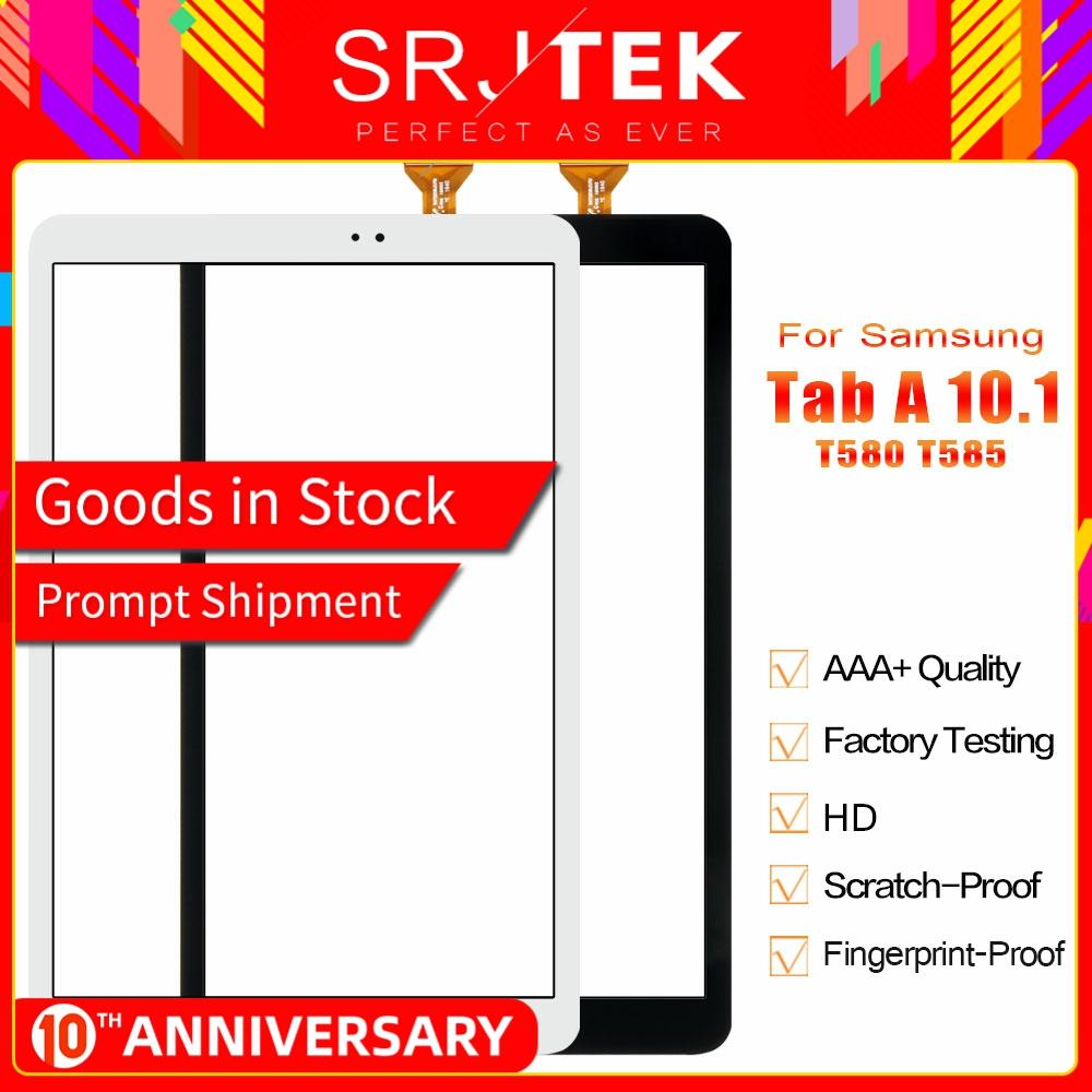 Srjtek 10.1 For Samsung Galaxy Tab A 10.1 T580 T585 SM-T580 SM-T585 Touch Screen Digitizer Sensor Glass Panel Tablet Replacement