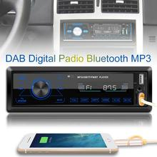 1 Din Auto Radio Stereo Lettore MP3 USB AUX FM AM RDS DAB + Radio Receiver Bluetooth Della Carta di TF U disco