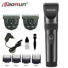 Profesjonalna elektryczna maszynka do strzyżenia włosów tytanowe ostrze 2000mA bateria męska trymer do brody ścinanie włosów maszyna do salonu