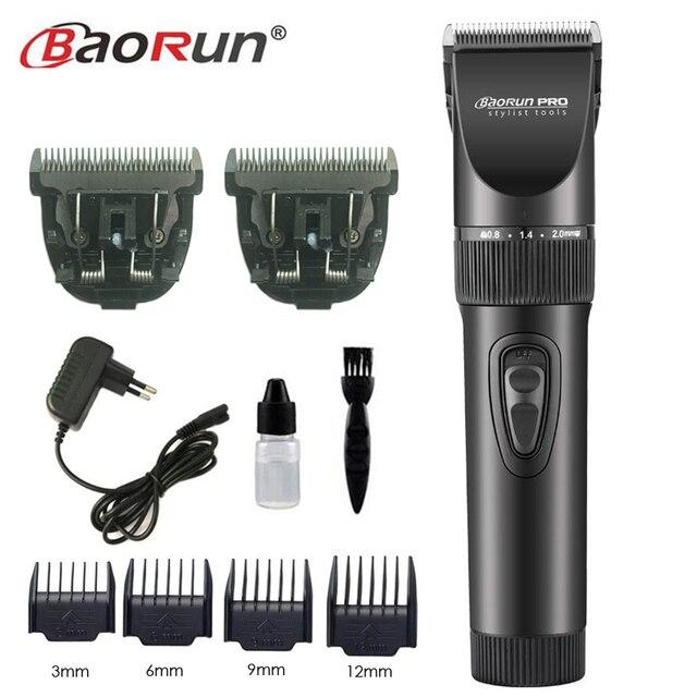 Professional Electric Hair Clipper Titanium Blade 2000mA Battery Mens Beard Trimmer Hair Cutting Machine For Salon