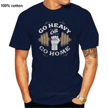 Camiseta de gimnasia para hombres, camisa masculina de levantamiento de pesas, con mancuernas, ir pesado o ir a casa, color marrón