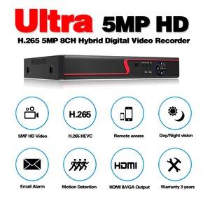 Image 2 - 6 ב 1 5MP AHD DVR NVR XVR CCTV 4Ch 8Ch 1080P 4MP 5MP היברידי אבטחת DVR מקליט מצלמה onvif RS485 Coxal בקרת P2P ענן