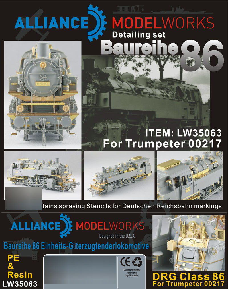1/35 Details Improvement Kits Br86 detail set (for <font><b>Trumpeter</b></font> 00217) LW35063 image