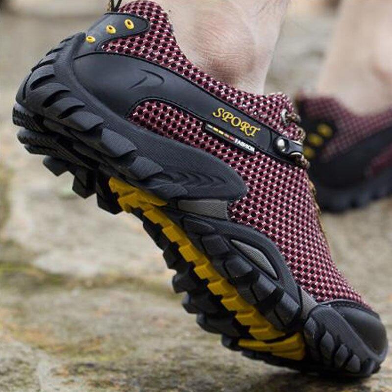 Summer hiking shoes men breathable mesh camping climbing trekking shoes men tactical hiking shoes men hiking sneakers sandals