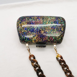 Image 3 - Nouvelle mode coloré acrylique sacs de luxe femmes sacs de messager élégant marbre soirée pochettes parti bal mariage sacs à main
