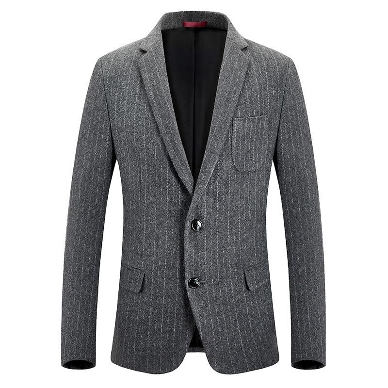 Autumn And Winter Men Suit Men's Business Casual Thick-Wool Woolen Cloth Small Suit Coat Men's Slim Fit Woolen Single Suit
