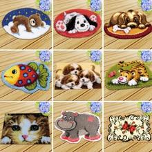 DIY Knoopkussen Dieren Latch Hook Rug Kit Kussen Knooppakket Embroidery Carpet Cushion Tapijt Foamiran For Needlework
