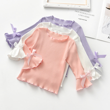 Baby Long Sleeve Tops t shirt Blouse Baby Girl Knitted T-shi