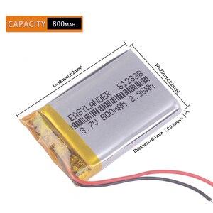 Image 2 - 612338 3.7V 800Mah Oplaadbare Batterij Voor Speelgoed Gierst Gps Texet FHD 570 Dvr 3gp Gmini HD50G HD70G Ibox Pro 800 602338