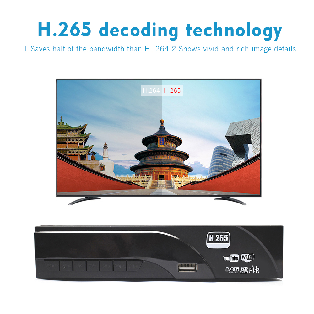 Image 3 - Vmade DVB T2 8943 HD Digital Decoder H.265 Terrestrial TV receiver TV Scart support Dolby AC3 Youtube with USB WIFI Set Top Box-in Satellite TV Receiver from Consumer Electronics