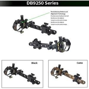 Image 4 - Archery Compound Bow Sight DB Series Retina Micro Adjust Sight 0.019 Fiber Optic 5 pins /7 pins Hunting Shooting Accessories