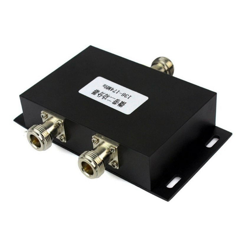 2 Way VHF 136-174MHz Antenna Power Divider Splitter For Radio Repeater Power