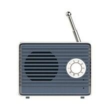 Promoción-altavoz Retro Bluetooth Vintage Mini bonito parlante con Bluetooth nostálgico bajo pesado estéreo 3D sonido Hifi envolvente Effe