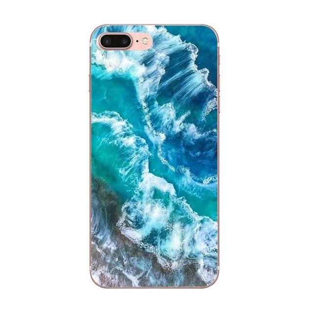 Aqua Turquoise Agate Mineral Gem Stone For Huawei Mate 9 10 20 P P8 P9 P10 P20 P30 P40 Lite Pro Smart 2017 Soft Transparent Case
