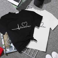 2019 neue Harajuku Liebe Gedruckt Frauen T-shirts Casual Tee Tops Sommer Kurzarm Weibliche T shirt für Frauen Kleidung
