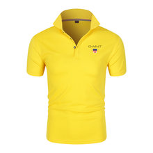 2021 summer new men's wear-resistant comfortable breathable pure cotton classic business casual short-sleeved Polo shirt M-4XL