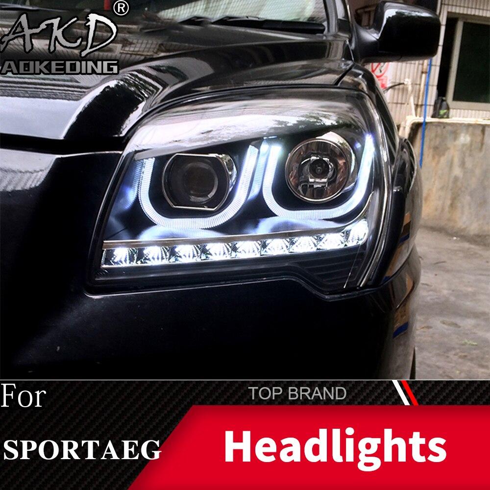 Head Lamp For Car KIA Sportage 2007-2013 Headlights Fog Lights Daytime Running Lights DRL H7 LED Bi Xenon Bulb Car Accessories