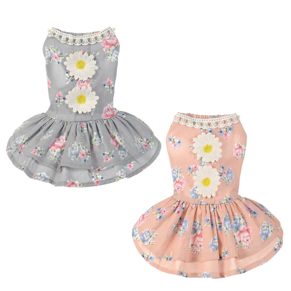 Hot Selling 1pc New <font><b>Dog</b></font> Cat Bow Tutu <font><b>Dress</b></font> Lace Skirt Pet Puppy <font><b>Dog</b></font> Princess Costume Apparel Clothes Small Pretty Nice Princess image