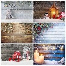 Фоны для фотосъемки laeacco Рождественская фотозона деревянная