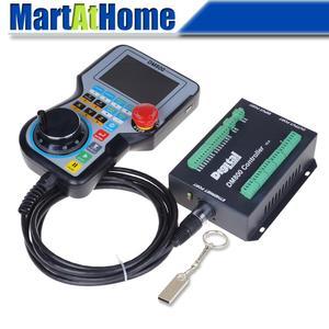 "Image 1 - High end DM800 Ethernet 3/4/5 Axis CNC Control System Offline Controller Support G code U disk Read 3.8"" TFT MPG & Estop Button"