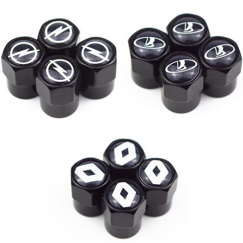 Car Black Metal Wheel Tire Valve Caps Stem case for Opel Lada Honda Renault Hyundai Peugeot Chevrolet Audi Bmw car accessories