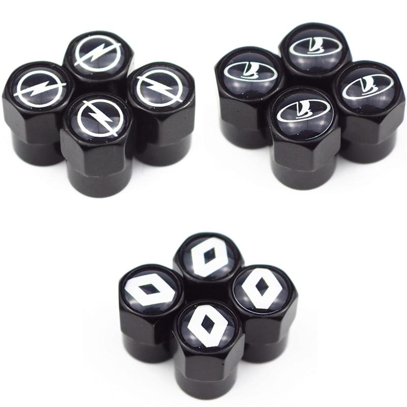 Car Black Metal Wheel Tire Valve Caps Stem Case For Opel Lada Honda Renault Hyundai Peugeot Chevrolet Audi Bmw Car Accessories