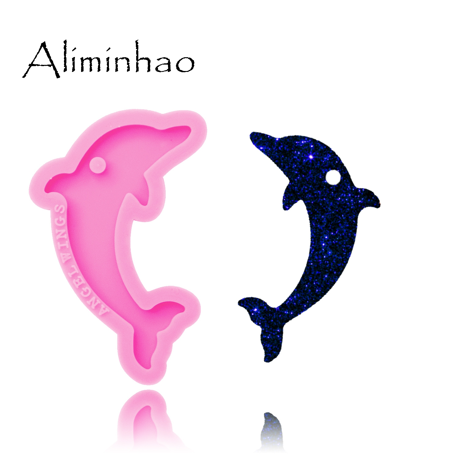DY0265 Shiny Dolphin Mold Silicone Molds DIY Epoxy And Resin Craft Molds Keychains Mould Custom