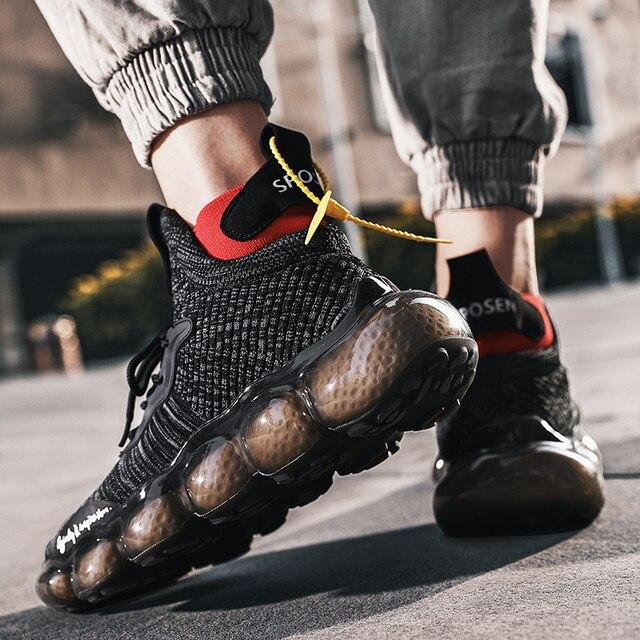 tenis masculino Zapatos de hombre, zapatillas de deporte para hombre, zapatos casuales tenis de lujo, zapatillas de entrenamiento de carrera blancas, mocasines de moda, zapatillas de correr para hombre 6