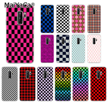 MaiYaCa Checkerboard Checked Checke Pattern TPU Soft Phone Cell Phone Case for Samsung S5 S6 S6 edge Plus S7 S8 S8plus S9 S9plus outdoor soft checked pattern fringed scarf