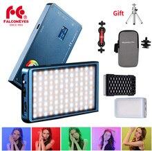 Falconeye F7 12 واط RGB LED جيب صغير على ضوء الكاميرا المغناطيسي مع 18 وضع المؤثرات الخاصة المحمولة للتصوير الفيديو/الصور