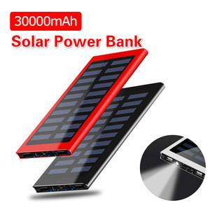 Image 1 - Solar Power Bank 30000mAh Portable Waterproof Battery Powerbank Fast Charging External Battery LED for All smartphones